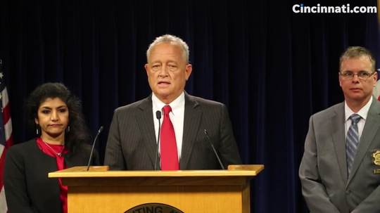 Hamilton County Prosecutor Joe Deters announces charges in serial rape cold cases.
