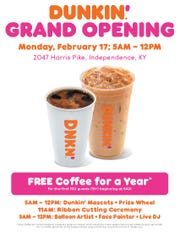 Here's a flyer for the new Dunkin' opening in Independence.