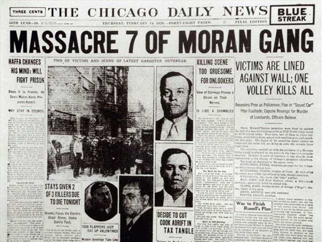 Today in History, February 14, 1929: Gangster Al Capone's enemies gunned  down in 'St. Valentine's Day Massacre'
