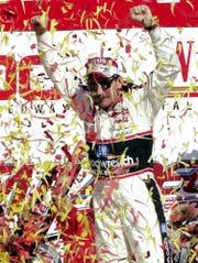 Oct. 15, 2000: Dale Earnhardt after winning the NASCAR Winston 500 at Talladega Superspeedway.