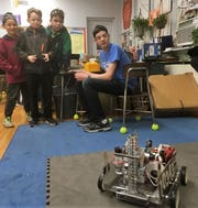 Members of the Westfield High School Robotics Team lent their expertise to STEM Night at McKinley on Thursday, Jan. 30.