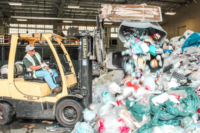 The Michigan State University Surplus Store and Recycling Center collects and sorts all recyclable material on the East Lansing campus.
