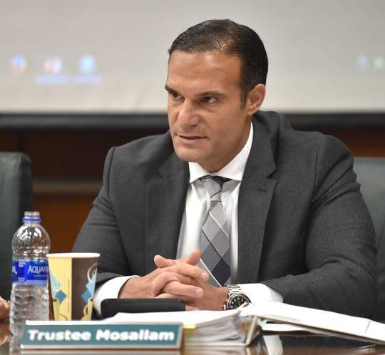"Trustee Brian Mosallam said Michigan State doesn't want a ""waffling flake"" as its next football coach."