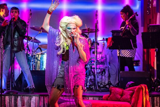 "Scott Anthony Joy stars in the Detroit Public Theatre's production of ""Hedwig and the Angry Inch."""