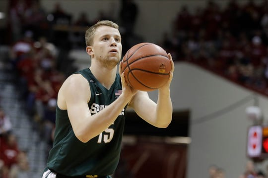 Michigan State's Thomas Kithier has missed the last two games with an illness.