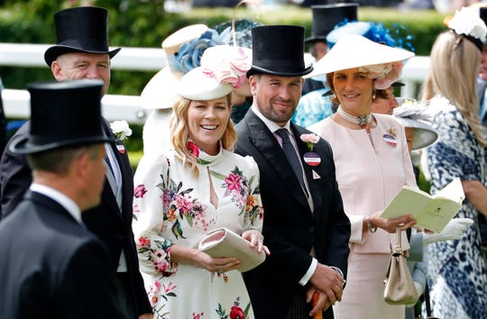 Peter Phillips and Autumn Phillips attends the third day of the annual Royal Ascot horse race meeting, which is traditionally known as Ladies Day, in Ascot, England on June 20, 2019.