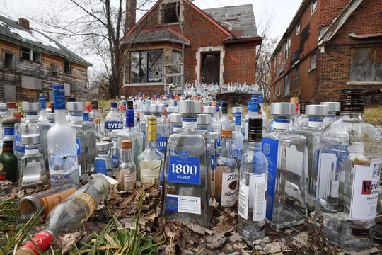 Three years after the memorial was started, the bottles remain a tribute to Emmanuel Humes' uncles and a protest against the city of Detroit for letting the abandoned homes in the neighborhood continue to blight the area.