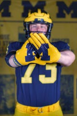 David Davidkov, an offensive lineman from Winnetka (Illinois) New Trier, most likely will plan an official visit to Michigan.