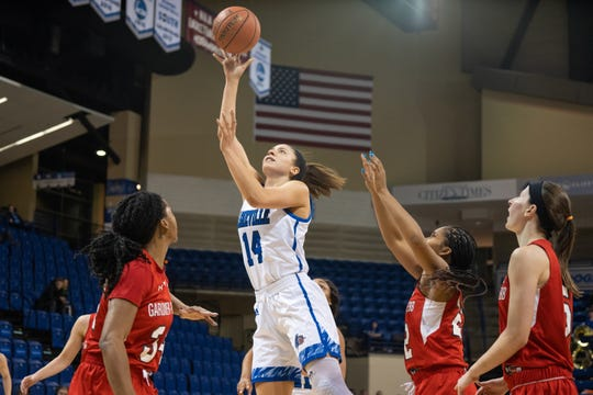 Brooke Jordan-Brown (14), a former star at Riverside High, could become an All-Big South Conference selection as a senior at UNC Asheville.