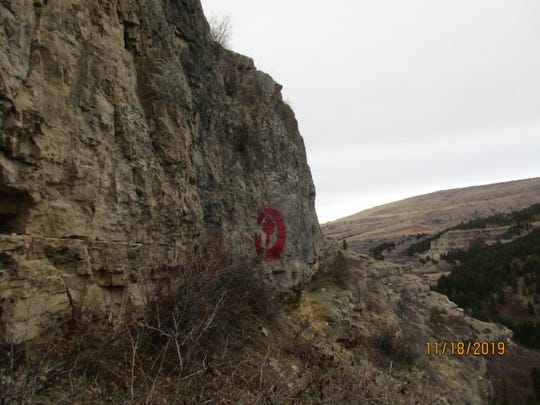 Recent graffiti has appeared in more remote and inaccessible locations suggesting the vandals are physically active