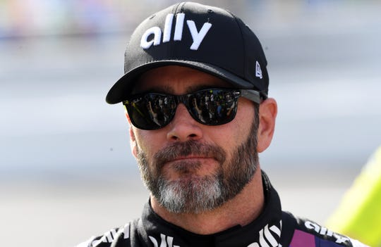 NASCAR Cup Series driver Jimmie Johnson (48) before The Clash at Dayonta at Daytona International Speedway on Feb. 9.