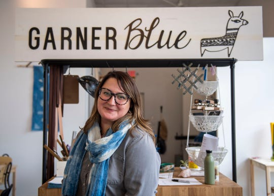 Lisa Garner opened her new store on Jan. 25, 2020, at the Jackson Walk Plaza. Garner Blue is a handcrafted accessory shop featuring indigo-dyed items such as earrings and scarfs.
