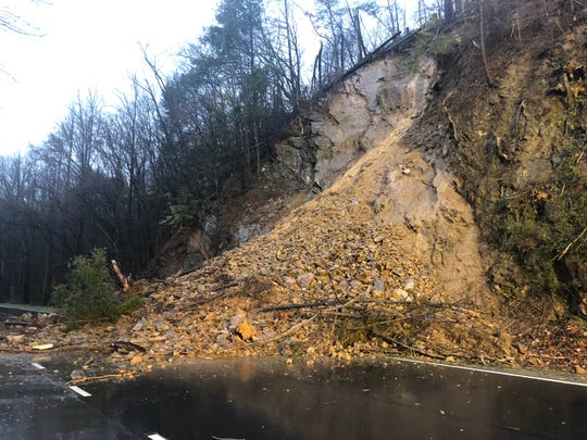 A mudslide that shut down the northbound lanes of the Spur, between Gatlinburg and Pigeon Forge, on Monday night will require an estimated 45 truck loads of debris to be cleared.