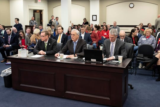 Representatives of Braidy Industries address the Appropriations and Revenue Committee at the Kentucky Capitol on Tuesday.