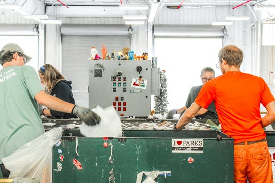 The Michigan State University Recycling Center accepts Nos. 1 to 7 plastics. Its Nos. 1 and 2 bottles are purchased by Plymouth-based Tabb Packaging Solutions, which partners with Clean Tech Inc. in Dundee to recycle them back into bottles.