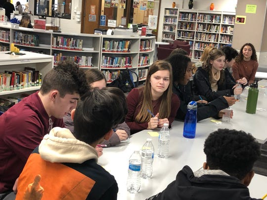 "Menomonee Falls High School and North Middle School students met Jan. 31 to discuss new nicknames for Menomonee Falls High School. The Menomonee Falls School Board voted 5-2 in Dec. 2019 to eliminate the ""Indians"" nickname."