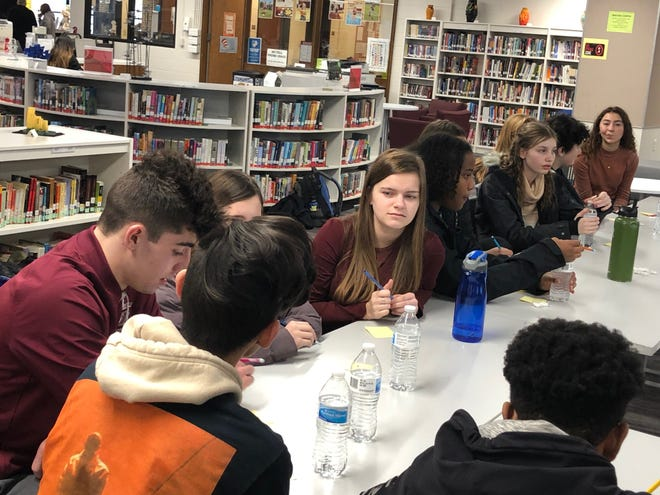 """Menomonee Falls High School and North Middle School students met Jan. 31 to discuss new nicknames for Menomonee Falls High School. The Menomonee Falls School Board voted 5-2 in December 2019 to eliminate the """"Indians"""" nickname."""