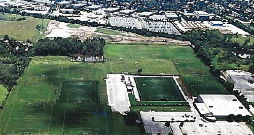 Uihlein Soccer Park would expand southward to vacant land under a new proposal.