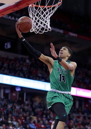 Oshkosh North's Tyrese Haliburton competes in the WIAA state championship game in 2018.