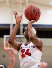 Pike Road's Tamirea Thomas (24) shoots against Beulah on the Pike Road campus in Pike Road, Ala., on Monday February 10, 2020.