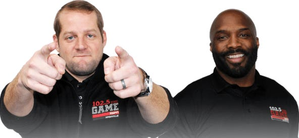 Braden Gall, left, and Derrick Mason have left The Game's morning sports talk show as hosts.