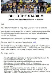 A group of Nashville SC supporters urged others to contact Mayor John Cooper's office in an effort to start construction at the fairgrounds.