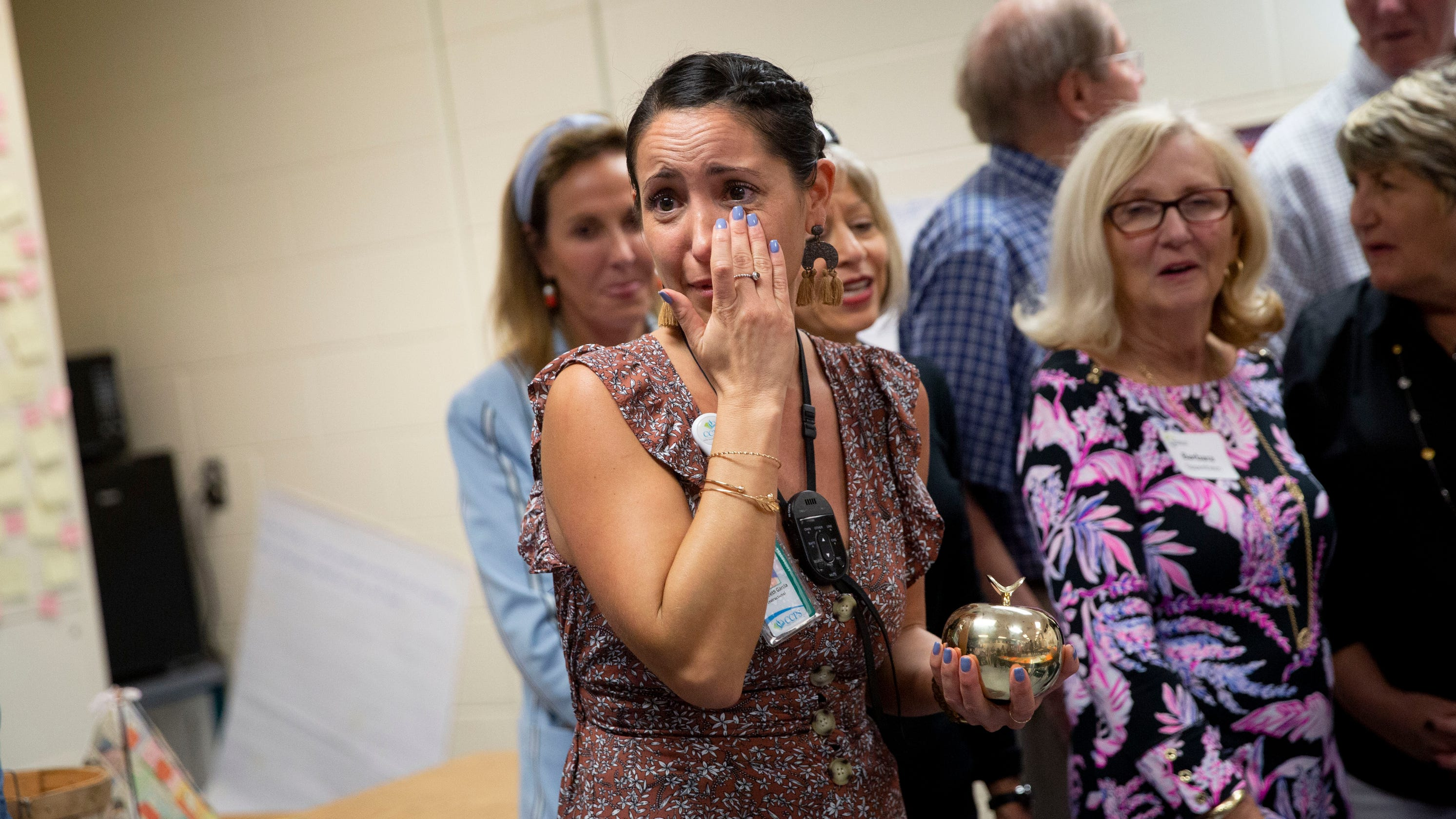 Collier County Teachers Surprised With Golden Apple Awards