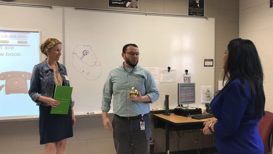 Teachers in Collier County are receiving visits from Champions For Learning as part of the annual Golden Apple awards in February 2020. The event gives out grants and awards to exemplary educators.