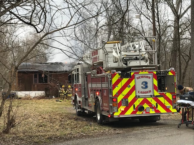 Several fire departments responded to a reported house fire on Summit Street in Heath on Tuesday, Feb. 11, 2020.