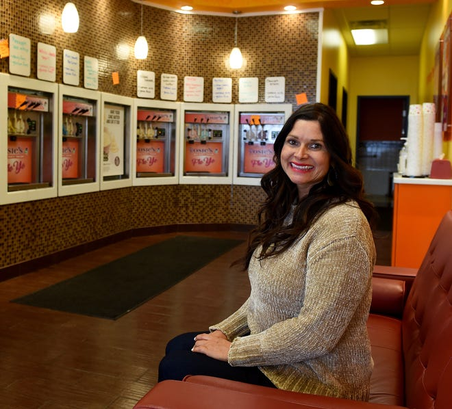 Tracy Culver, owner Rosie's Self-Serve Yogurt, spent 15 years in the real estate industry before buying the frozen yogurt business in 2016. The business reminds her of some of her earliest summer jobs.