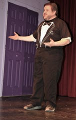"Steve Bortstein performs in the Theater Ensemble Arts production of ""Four Weddings and an Elvis."""
