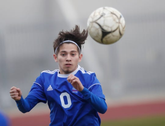 Indio High School in blue uniform defeated Elsinore during CIF play at Ed White Stadium on February 10, 2020.