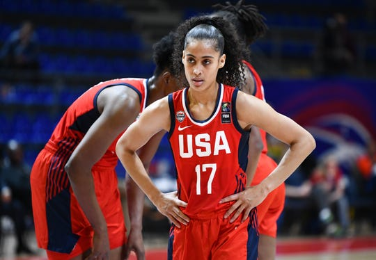 The Phoenix Mercury traded Tuesday for guard Skylar Diggins-Smith, who made All-WNBA first team in 2014 and 2017. Diggins-Smith is a contender for the U.S. team at the Tokyo Olympics.