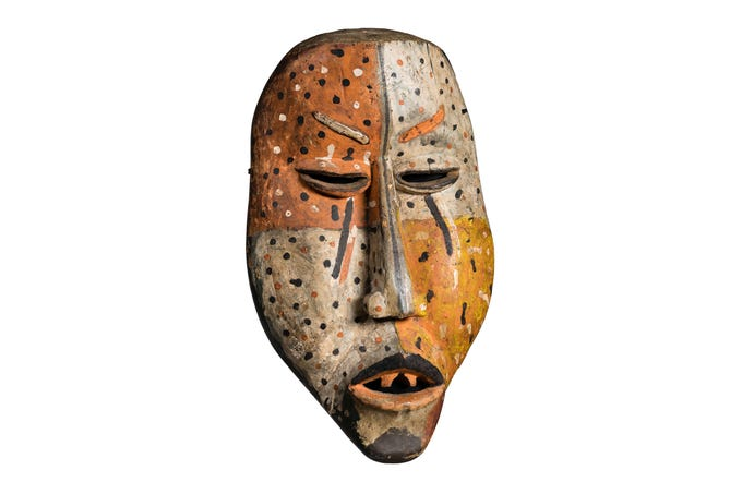 A Mamboma mask attributed to the Woyo people on show at the Musical Instrument Museum's Congo Masks and Music: Masterpieces from Central Africa exhibit through Sept. 13, 2020.