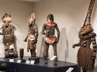 The Musical Instrument Museum's Congo Masks and Music: Masterpieces from Central Africa exhibit features more than 150 masks, instruments and costumes from the Democratic Republic of the Congo. These are among the 12 mannequins dressed in full ceremonial outfits.