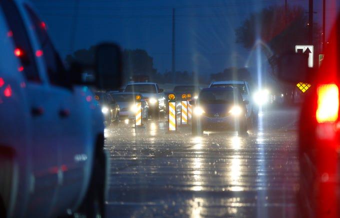 Rain hits the East Valley area in Mesa, Arizona on Feb. 10, 2020.