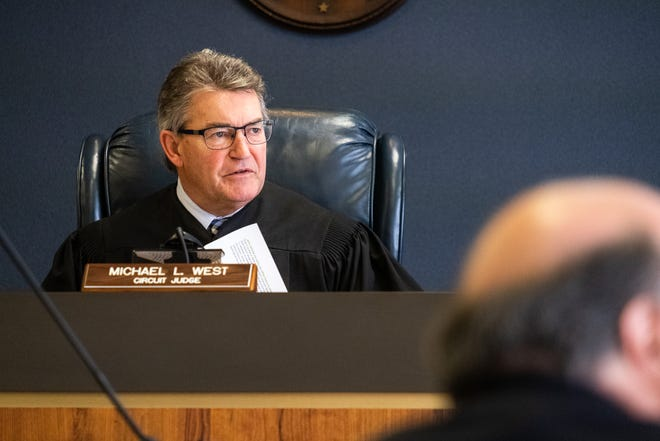 St. Clair County Circuit Judge Michael West denied a motion Monday, Aug. 31, 2020, to adjourn jury trials during the COVID-19 pandemic.