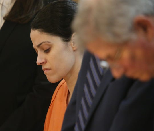 Nicole Addimando receives her sentence from Judge Edward McLoughlin on February 11, 2020. Addimando was found guilty of killing Christopher Grover in April 2019.