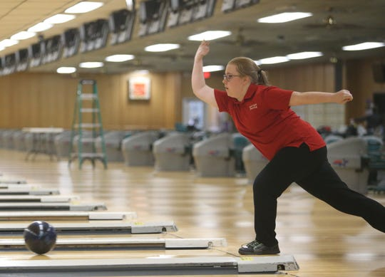 Roy C. Ketcham's Haley Boom during the Section I girls bowling championships in Fishkill on February 10, 2020.