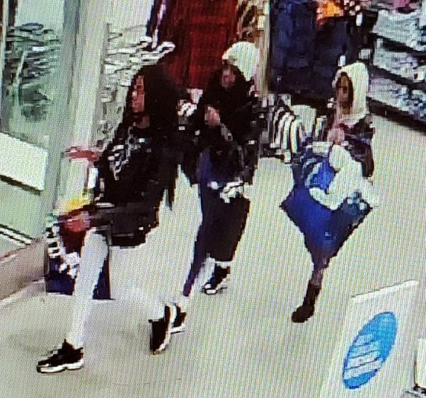 The three suspects worked together to steal primarily baby clothes on Dec. 22 from the store in the 300 block of Loucks Road, police said.
