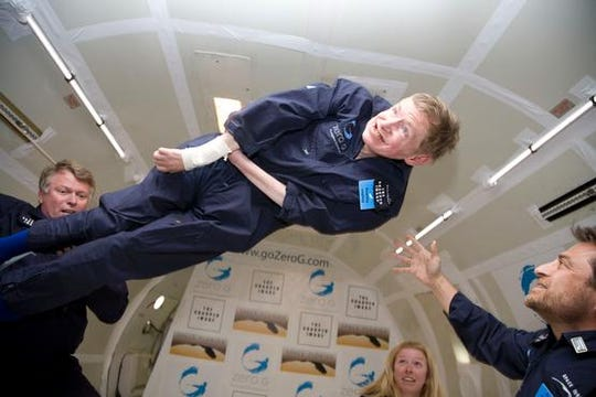 Stephen Hawking on ZERO-G flight