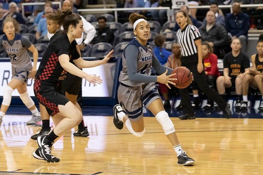 Nevada sophomore Imani Lacy is fifth in the conference in blocks per game at 1.30, and ranks eighth in the league in free throw shooting, hitting 70.4 percent.