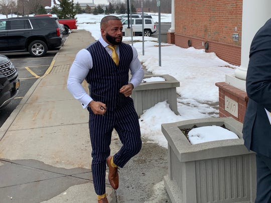 Devin Tribunella arrives in Greece Town Court Tuesday.