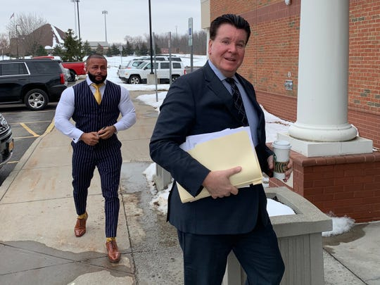 Devin Tribunella (left) at recent court appearance with lawyer James Doyle.