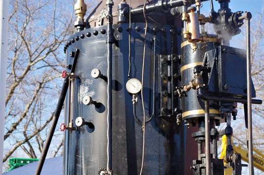 The J.S. Company of Middlefield, Ohio, repaired the boiler on a steam donkey on display at Turtle Bay Exploration Park. The donkey made its first public appearance in nine years at the Sierra-Cascade Logging Conference in Anderson last week.