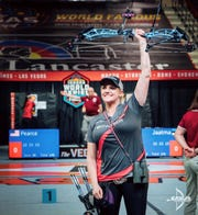 Champion archer Paige Pearce of Red Bluff won both the Indoor World Series final and the Vegas Shoot, both in Las Vegas on Feb. 8 and 9, 2020.  Her scores were perfect.