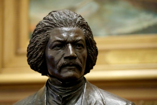 A bronze statue of abolitionist Frederick Douglass was unveiled at the Maryland State House this month in Annapolis.