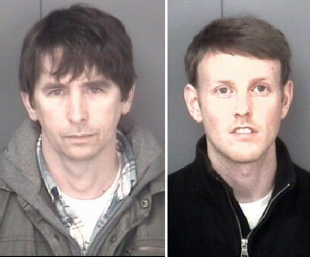Kevin P. McCartin, 35, of Craigsville, (right) is facing two charges of aggravated sexual battery. His partner, Gary M. Sprouse, 46, (left) also of Craigsville, faces a single charge of aggravated sexual battery.