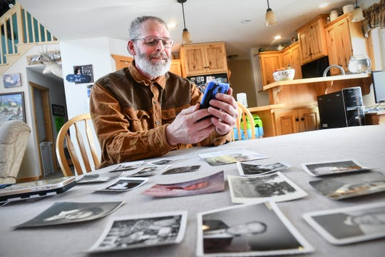 Rick Colbert talks on the phone with Chuck Owen Saturday, Feb. 8, 2020, at his home near Bemidji. Owen stayed in St. Cloud with Colbert's grandparents 70 years ago. The two were connected after Owen reached out to the community for information on the Colbert family and to thank them for taking him in.