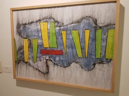 A painting with musical inspiration by Michael Hunnewell, Assistant in Architecture at FAMU's School of Architecture, on display at the Anderson Brickler Gallery.